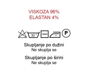 Viskoza 96%, Elastan 4%