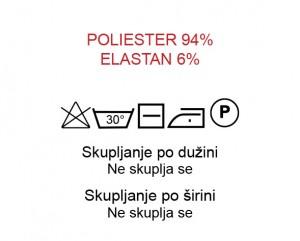 Poliester 94%, Elastan 6%