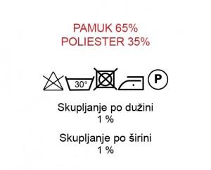 Pamuk 65%, Poliester 35%