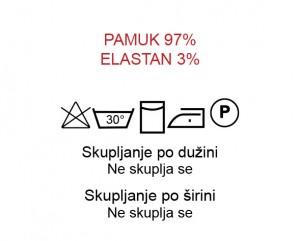 Pamuk 97%, Elastan 3%