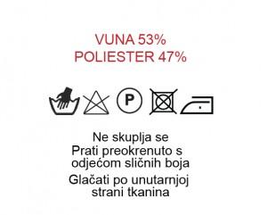 Vuna 53%, Poliester 47%
